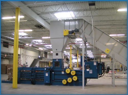 Corrugated sheet plant system to convey balers