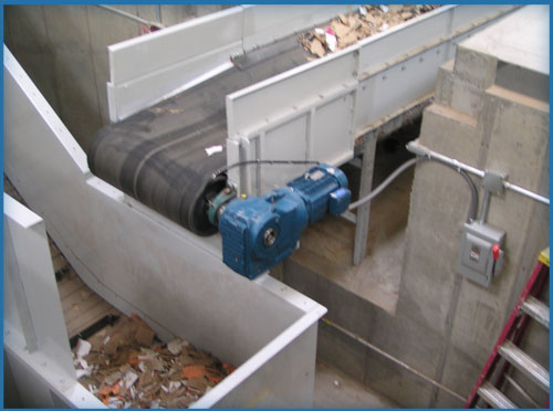 Corrugator System Installation with Open End Baler by Air Systems Design for the most efficient pneumatic conveying systems.