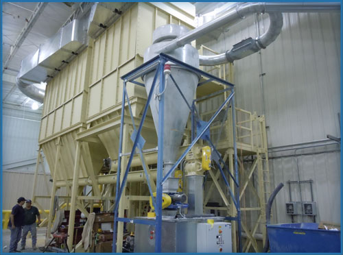 Dust filter after a three-baler system by Air Systems Design for the most efficient pneumatic conveying systems.